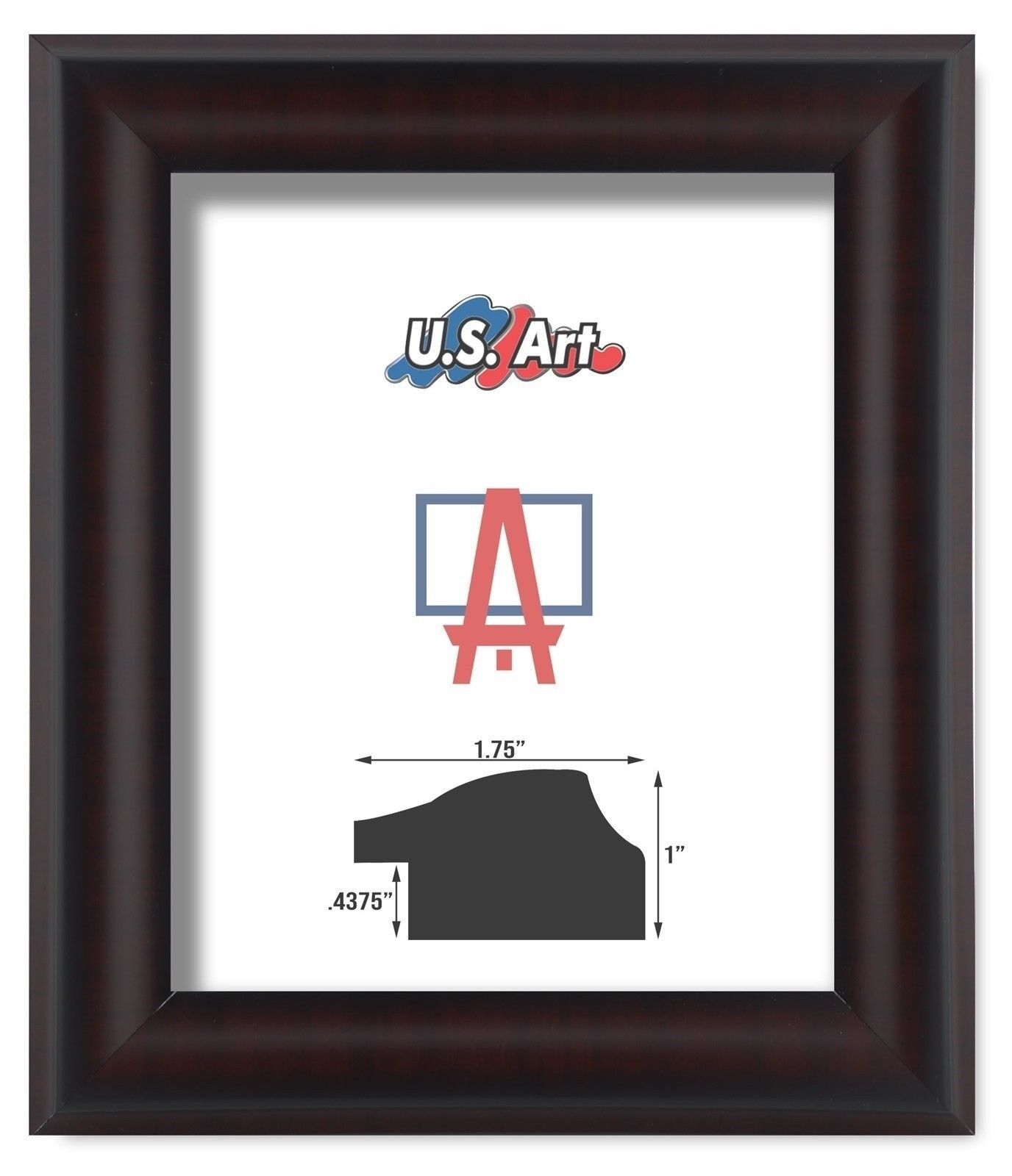 """US ART Frames 1.5/"""" Arkansas Cherry Maroon Picture Poster Frame Mdf S-14 Inch"""