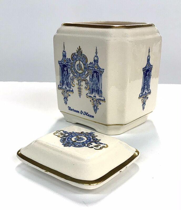 RARE Fortnum &  Mason Ironstone Tea Jar Canister Vintage Made In England