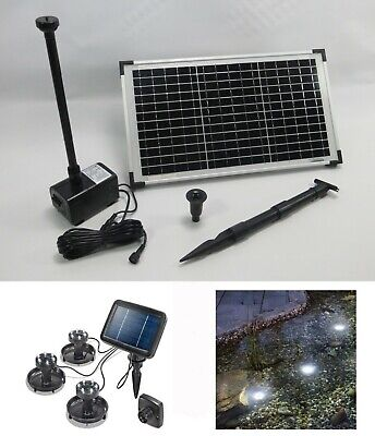 20 W Solar Pump Garden Pond Pond Pump Water Element Fountain LED Lighting
