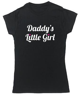 Daddy's Little Girl t-shirt fitted short sleeve womens Dad Womens Fitted T-shirt