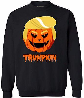 TRUMPKIN CREWNECK Happy Halloween Gift Funny Donald Trump Polical Sweatshirt