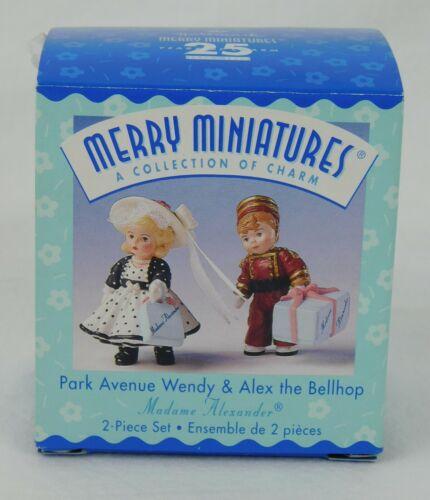 Hallmark Merry Miniatures ~ PARK AVENUE WENDY & BELLHOP ~ Madame Alexander 1999