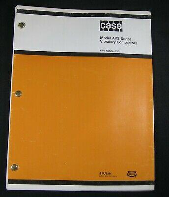 Case Avs 1100 1300 1900 Series Vibratory Plate Compactor Parts Manual Book List