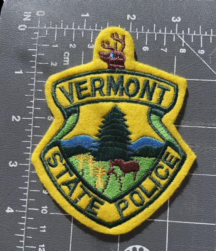 Vintage Vermont State Police Felt Patch VT VSP Highway Patrol Officer Cops Law