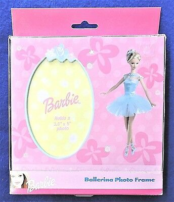 Barbie Ballerina Picture Frame Pink Stand-Alone Tabletop Photo Size 3.5