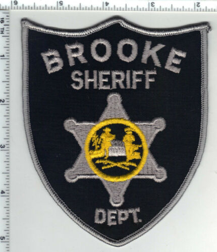 Brooke Sheriff Dept. (West Virginia) 2nd Issue Silver Shoulder Patch