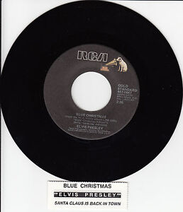 ELVIS-PRESLEY-Blue-Christmas-Santa-Claus-Is-Back-In-Town-7-45-record-NEW