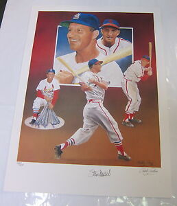 STAN-MUSIAL-AUTOGRAPHED-LIMITED-EDITION-LITHOGRAPH-BY-CHRISTOPHER-PALUSO