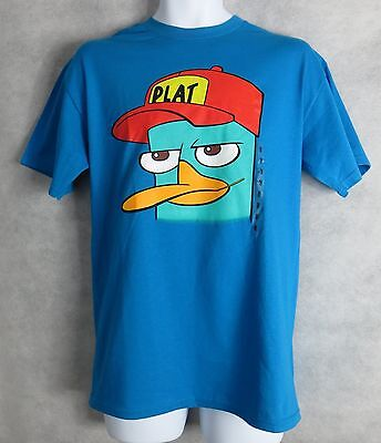 Disney Phineas and Ferb Mens T-Shirt New Perry Platypus Plat Hat Free Shipping - Hat T Shirt