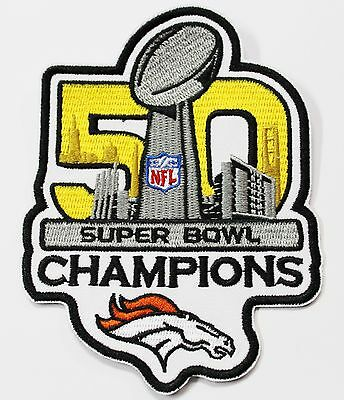 LOT OF (1) NFL 50th SUPER BOWL CHAMPIONS DENVER BRONCOS EMBROIDERED PATCH  # 40](Denver Nfl)
