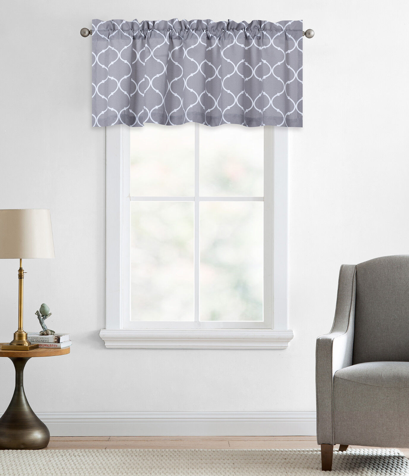 Regal Home Collections Trellis Lattice Rod Pocket Valance -