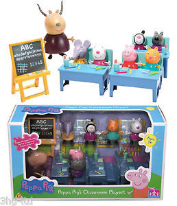 PEPPA PIG 7 x Figures Classroom Playset Toy NEW