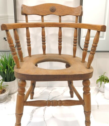 Antique Childs Potty Chair stands 20intall 14in wide