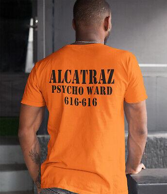 Alcatraz Halloween T-Shirt Costume Prison Psycho Ward Mens Womens Kids Top L305 (Psycho Kid Halloween)