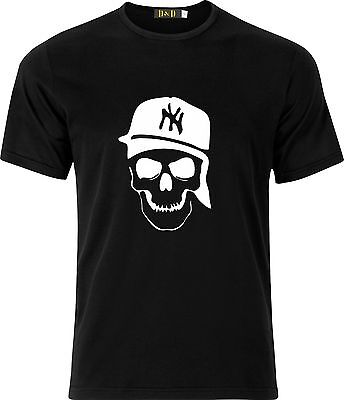 Ganster Hats (NEW YORK GANSTER SKULL AND HAT HIP HOP  FUNNY HUMOR GIFT XMAS COTTON  T)