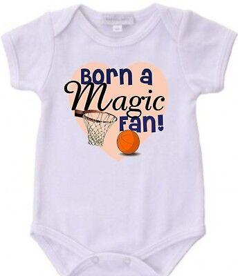 Born a Magic Basketball Fan Baby Bodysuit Creeper New Adorable Gift (Baby Born Magic)