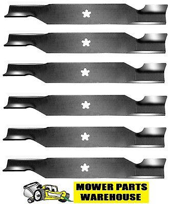 "6 REPLACEMENT AYP MOWER BLADES HIGH LIFT 54"" CUT 187256 532-"