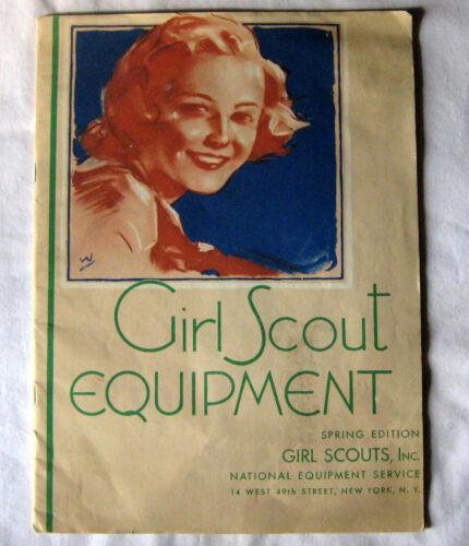 OLD Vintage Girl Scout 1938 EQUIPMENT CATALOG Book Official Uniform W/ORDER FORM