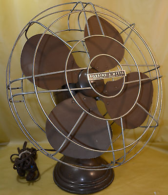 Vtg Robbins   Myers Industrial Fan Model 22004 Very Nice W  16  Blades 1 3 Amps