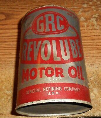 VINTAGE GRC REVOLUBE MOTOR OIL ONE QUART CAN/RARE!
