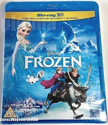 FROZEN Brand New 3D BLU-RAY (and 2D) Region-Free DISNEY MOVIE -- Ships from USA - Frozen Movie Frozen Movie