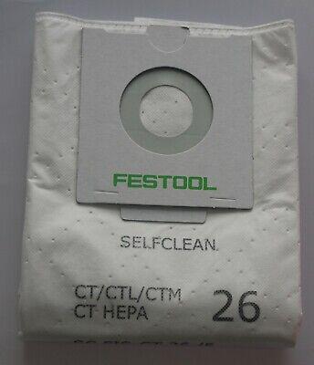 Festool 496187 REUSABLE WITH ZIP  Filter Bag CT CTL CTM 26 with bio bag -