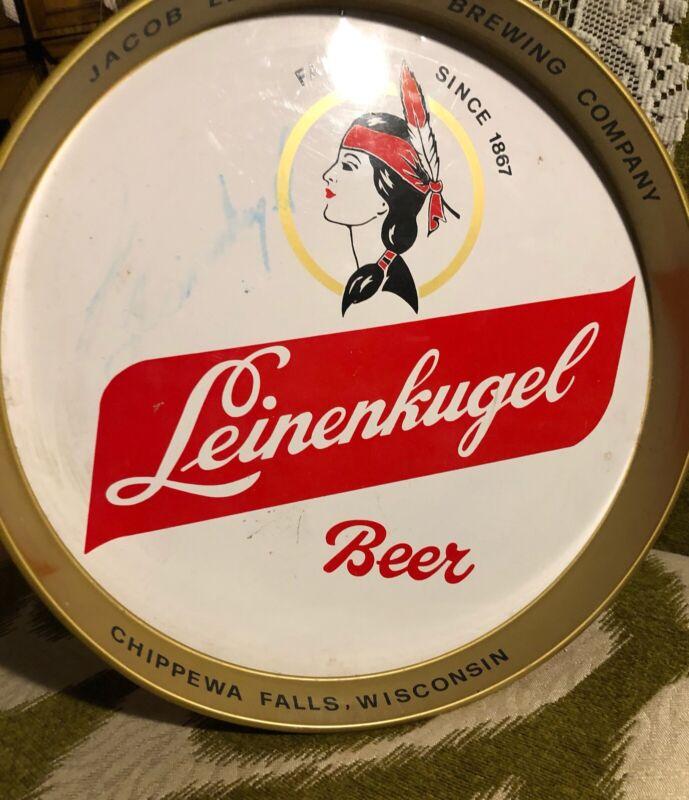 Vintage Leinenkugel Beer Tray with Signature Chippewa Falls WI