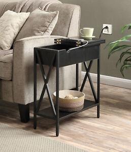 Tucson Electric Flip Top Table 161859BL, Black Finish