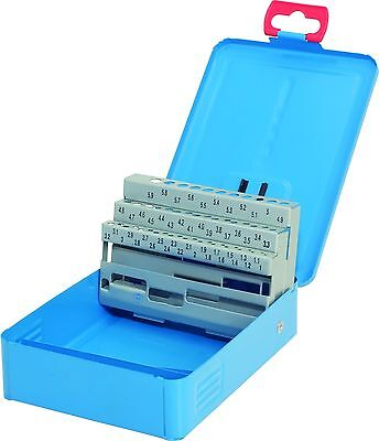 Profesional Cassette Azul Metal-Deposito Vacío Para 50 Broca 1,0-5,9 X 0,1MM