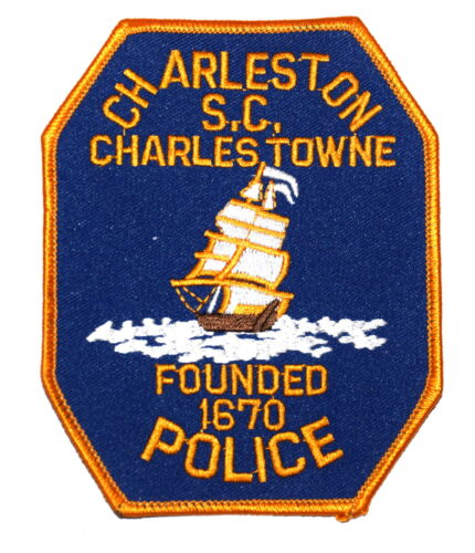 CHARLESTON CHARLESTOWN SOUTH CAROLINA SC Police Sheriff Patch TALL SAILING SHIP