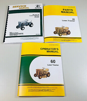Service Manual Set For John Deere 60 Lawn Tractor Garden Parts Owners Repair