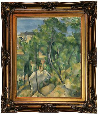Cezanne View of the sea at L'Estaque 1883 Framed Canvas ...