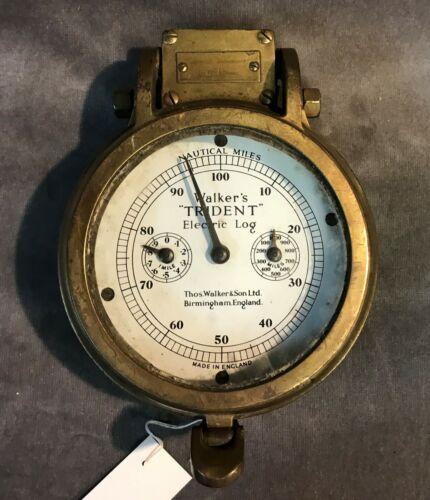 Antique Thomas Walker & Sons Ltd England Trident Electric Log Nautical Miles