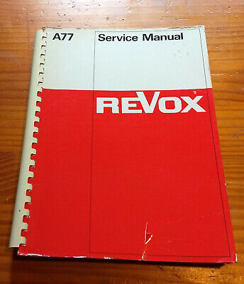 REVOX A77 Tape Recorder Service Manual for sale  Shipping to India