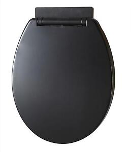 40cm round toilet seat. Black Soft Close Toilet Seats  eBay