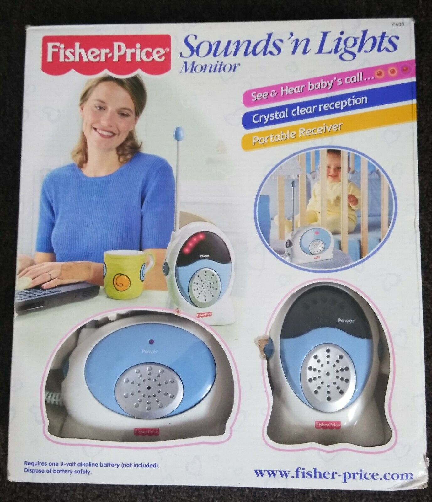 Fisher Price Sounds'n Lights Baby Monitor Receiver Handheld