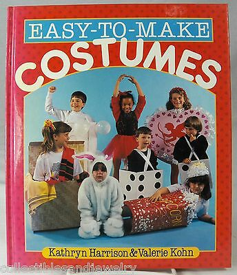 Easy to Make Costumes Book 46 Kids Halloween Christmas Holiday Theater Play 1992 - Halloween Costumes To Make