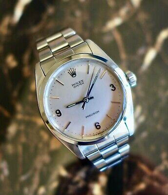 """A RARE & STUNNING VINTAGE 1970 ROLEX OYSTER """"EXPLORER"""" DIAL IN STAINLESS STEEL"""