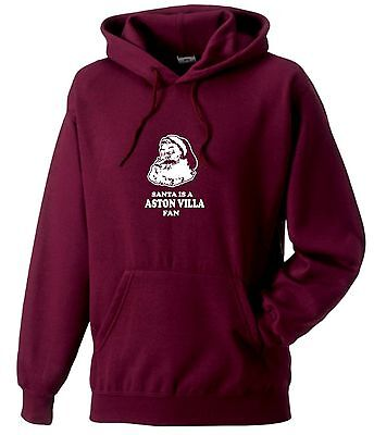 SANTA IS A VILLA FAN HOODIE KIDS