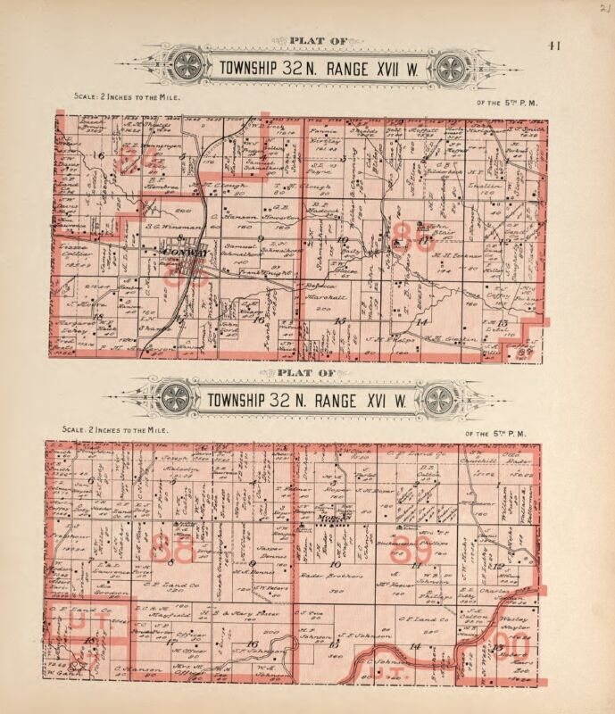 1912 Atlas LA CLEDE COUNTY plat map MISSOUR old GENEALOGY history Land DVD P140