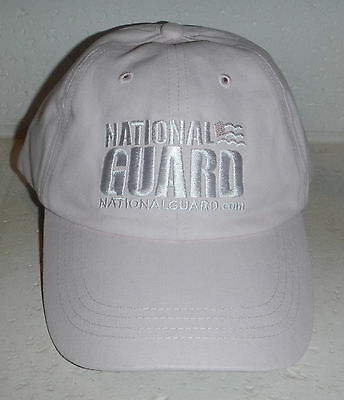 NWOT US United States National Guard Armed Forces Light Pink Baseball Hat Cap
