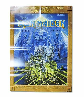 IRON MAIDEN! SOMEWHERE SBIT TOUR 2008 POSTER PROGRAM RARE NEW NOS OFFICIAL