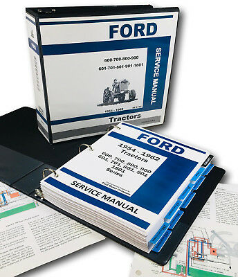 Ford 600 700 800 900 601 701 801 901 1801 Tractor Service Repair Manual Shop Oh