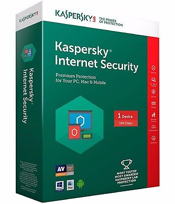 Kaspersky Internet Security 2018 Key License for 184 days 1 PC Global Download for sale  Shipping to South Africa