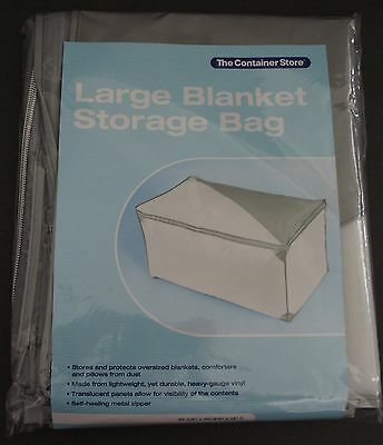 The Container Store Large Grey Blanket Storage Bag 35 1 2 X 20 3 4 X 18 H H 3