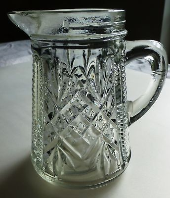 Anchor Hocking PRESCUT Oatmeal Pineapple Syrup Pitcher/s (Pineapple Syrup)