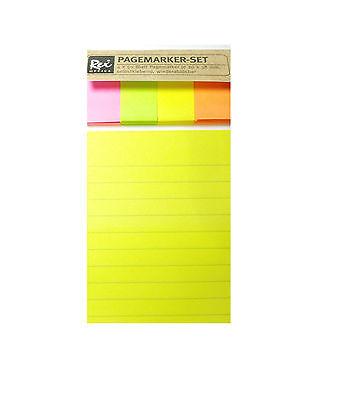 Rex Office Haftnotizen 400x Neon-Gelb+Grün+Orange+Pink(351E)