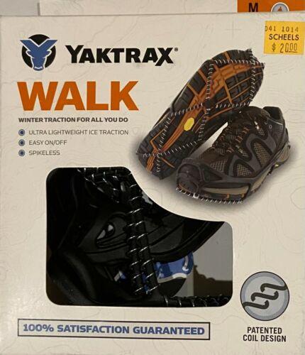 NEW YAKTRAX WALK Winter Traction Spikeless Medium M 9-11 W 10.5 - 12.5