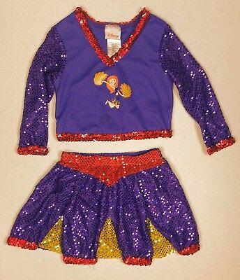 Kim Possible Childrens Small Cheer Leader Purple Halloween Costume