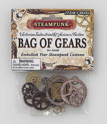 Steampunk BAG OF GEARS Cosplay Vintage Adult Accessory Asst. Sizes B543